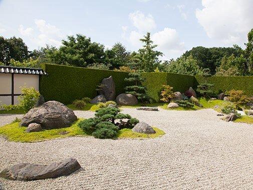 Japansk stenhave i Birkegårdens Haver