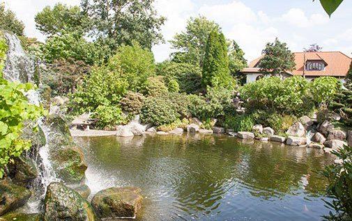 Del af det imponerende anlæg i Zen Garden