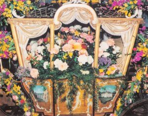 Kotillonvognen pyntet af Erik Bering 1980