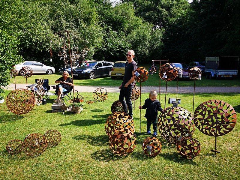 Jernskulpturer fra Klaus Jensen Havekunst