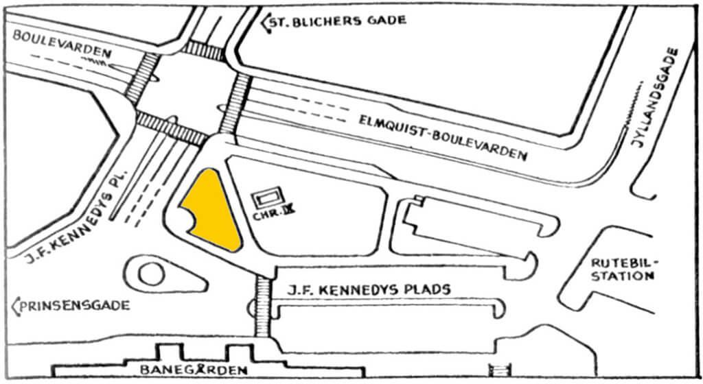 Tegning over John F. Kennedys Plads