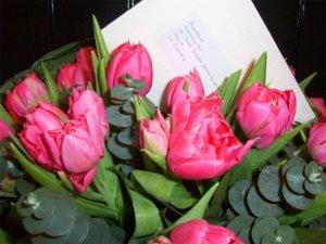 Prøvebuket med Kronprinsesse Mary tulipanen
